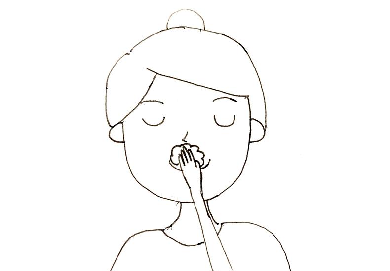 鼻の下の洗い方
