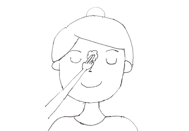 鼻すじの洗い方