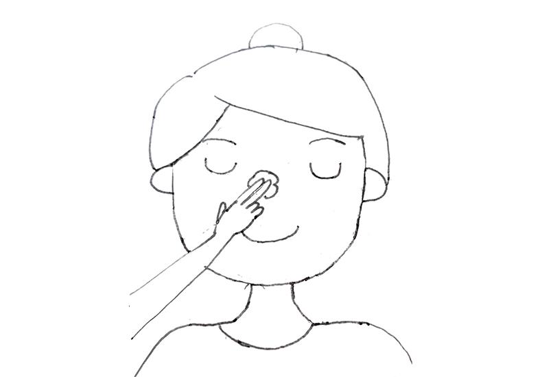 鼻の頭の洗い方
